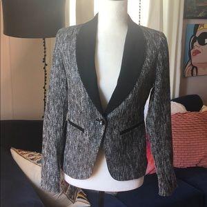 Silver/gray and black blazer